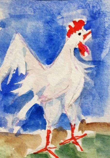Art: Leghorn by Artist Delilah Smith