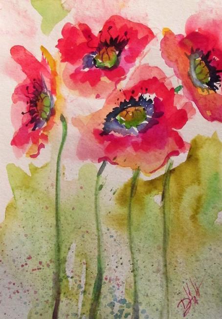 Art: Fancy Poppies by Artist Delilah Smith
