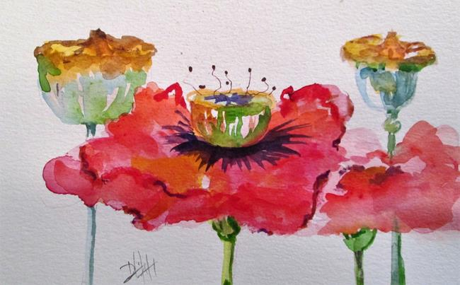 Art: Poppies and Pods by Artist Delilah Smith