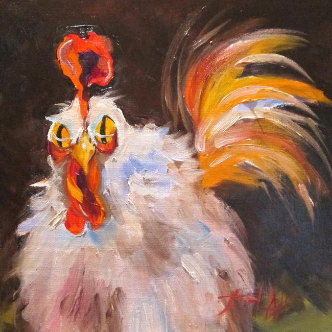 Art: Rooster No. 39 by Artist Delilah Smith