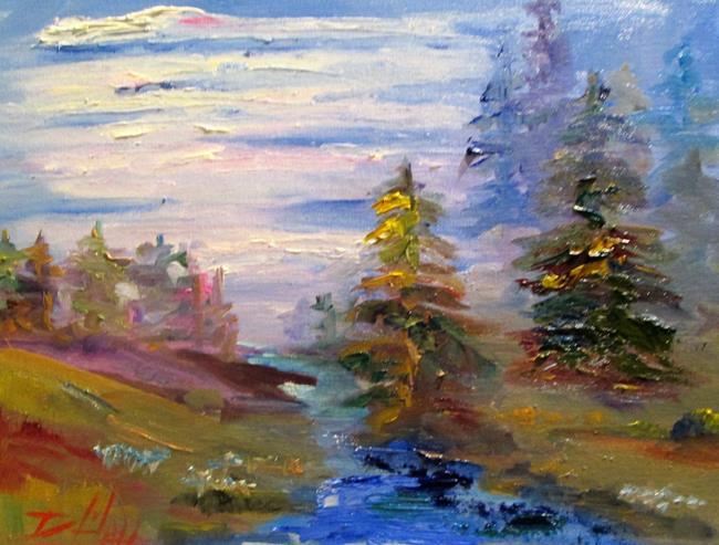 Art: Woodland Stream by Artist Delilah Smith