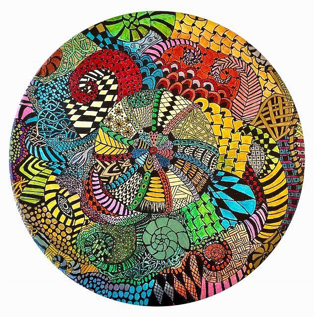 Art: Mandala by Artist Ulrike 'Ricky' Martin