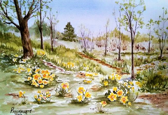 Art: Spring Woodland by Artist Bonnie Pankhurst