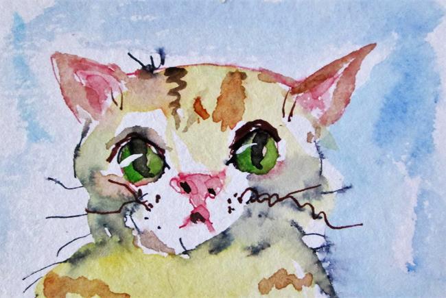 Art: Yellow Kitten by Artist Delilah Smith