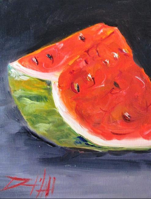 Art: Watermelon Slice No. 3 by Artist Delilah Smith