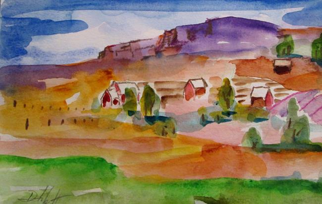 Art: Farm on the Hill by Artist Delilah Smith