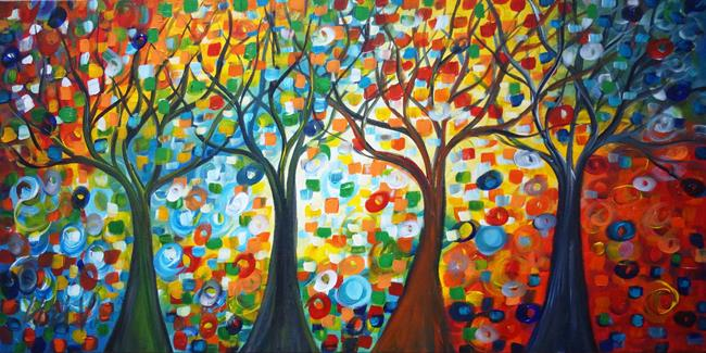 Art: TREES and SEASONS by Artist LUIZA VIZOLI