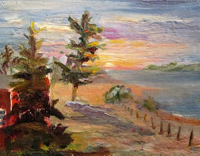 Art: Sand and Pines by Artist Delilah Smith