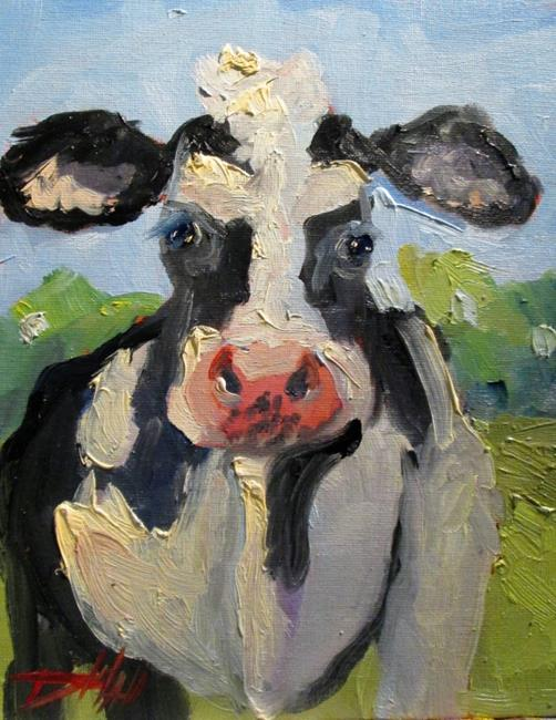 Art: Cow No. 9 by Artist Delilah Smith