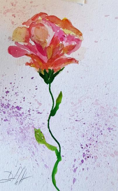 Art: Flower Rose by Artist Delilah Smith