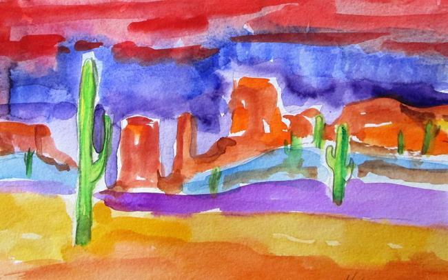 Art: Southwestern Landscape by Artist Delilah Smith