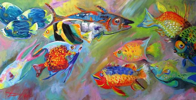 Art: Tropical Fish by Artist Delilah Smith