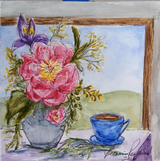 Art: Spring Flower Bouquet by Artist Bonnie Pankhurst