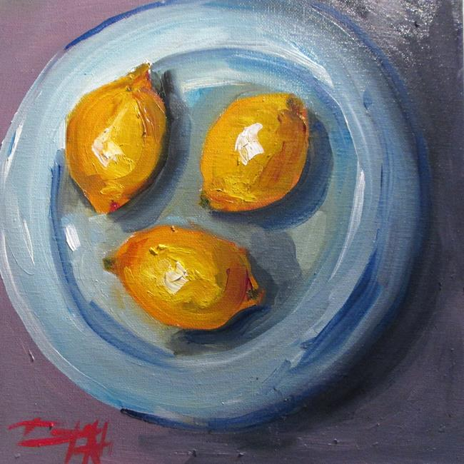 Art: Lemons on a Plate by Artist Delilah Smith