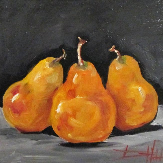 Art: Three Pears No. 2 by Artist Delilah Smith