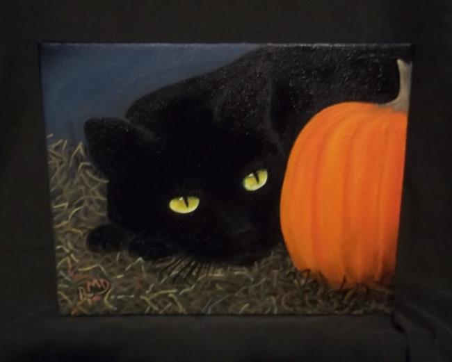 Art: BARN CAT by Artist Rosemary Margaret Daunis