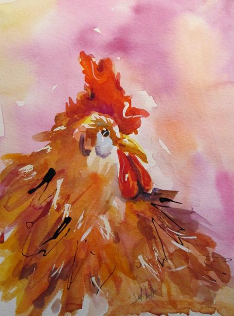 Art: Rooster No. 41 by Artist Delilah Smith