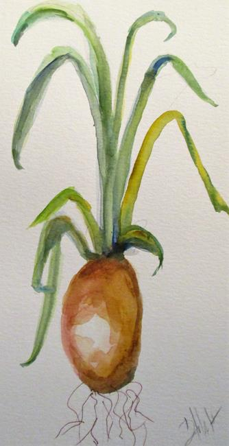 Art: Green Onion by Artist Delilah Smith