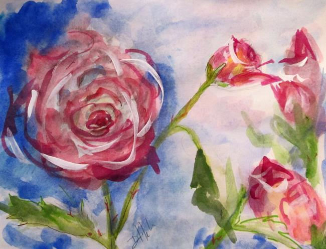 Art: Rose Study by Artist Delilah Smith