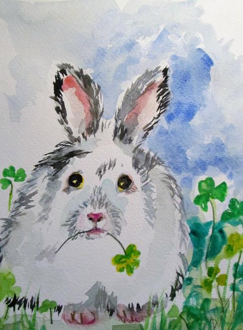 Art: Irish Rabbit by Artist Delilah Smith
