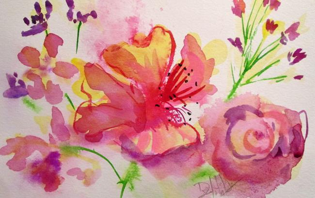 Art: Abstract Pink Flower by Artist Delilah Smith