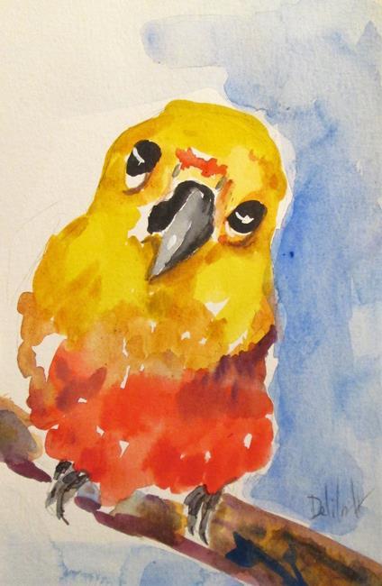 Art: Parakeet by Artist Delilah Smith