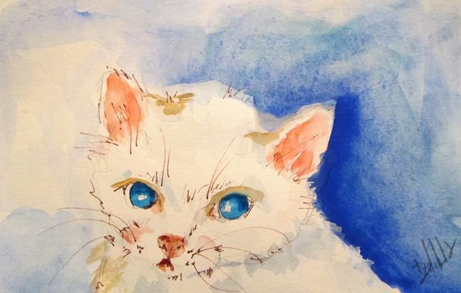 Art: White Kitten by Artist Delilah Smith