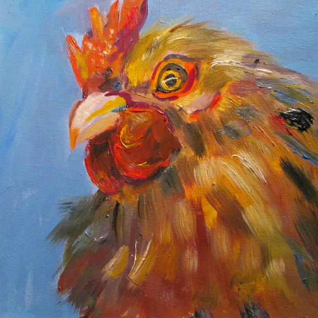 Art: Brown Rooster by Artist Delilah Smith
