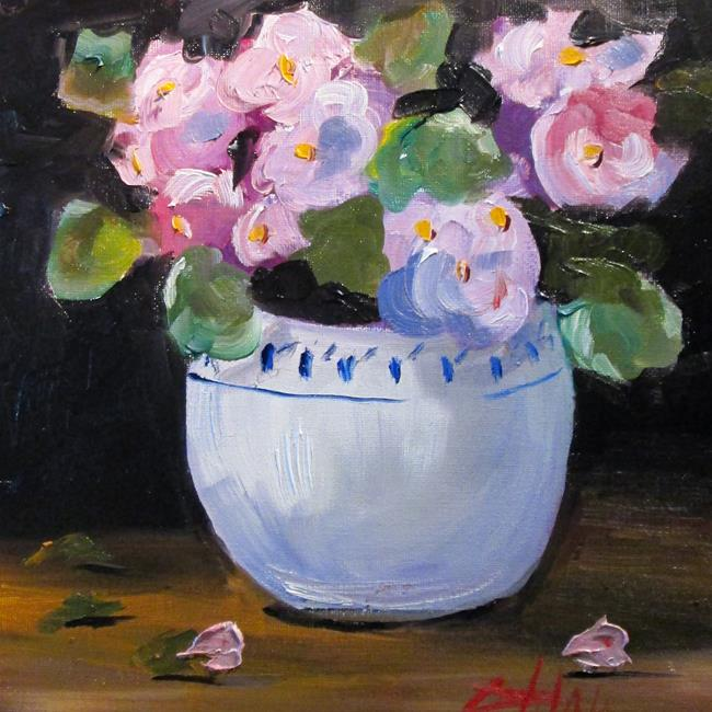 Art: Pink Begonias by Artist Delilah Smith