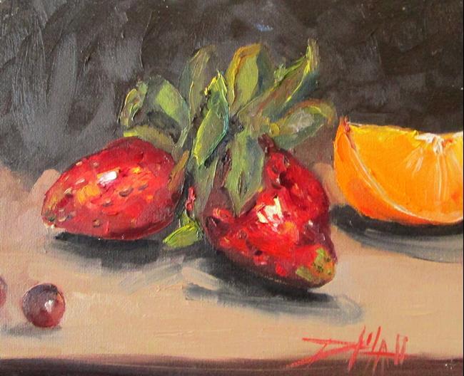 Art: Strawberry Still Life by Artist Delilah Smith