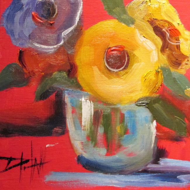 Art: Floral Still Life by Artist Delilah Smith
