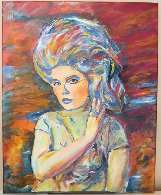 Art: Debbie Harry, Hairspray Pop Art Portrait by Artist Paul Lake, Lucky Studios