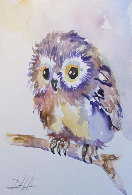 Art: Fluffy Owl by Artist Delilah Smith