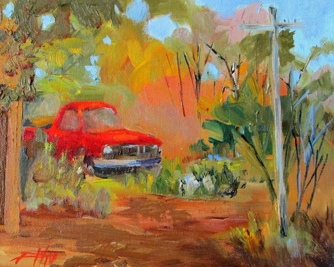 Art: Red Truck by Artist Delilah Smith