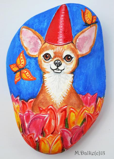 Art: Tulip the Chihuahua Gnome by Artist Melinda Dalke