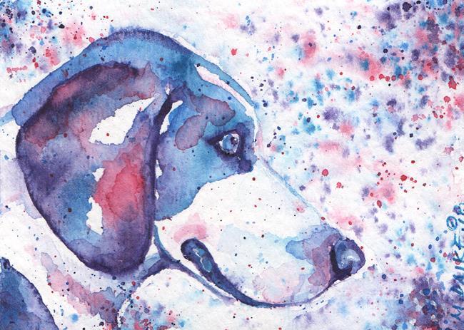 Art: ACEO Colors Beagle by Artist Melinda Dalke