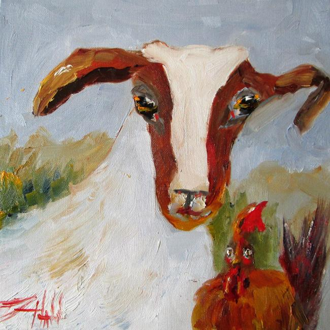 Art: Goat and Chicken by Artist Delilah Smith