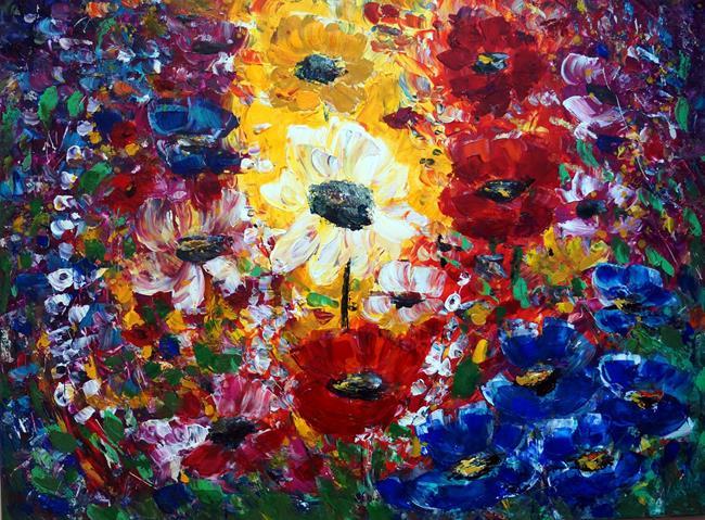 Art: FLOWERS GARDEN by Artist LUIZA VIZOLI