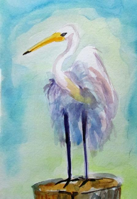 Art: Egret by Artist Delilah Smith