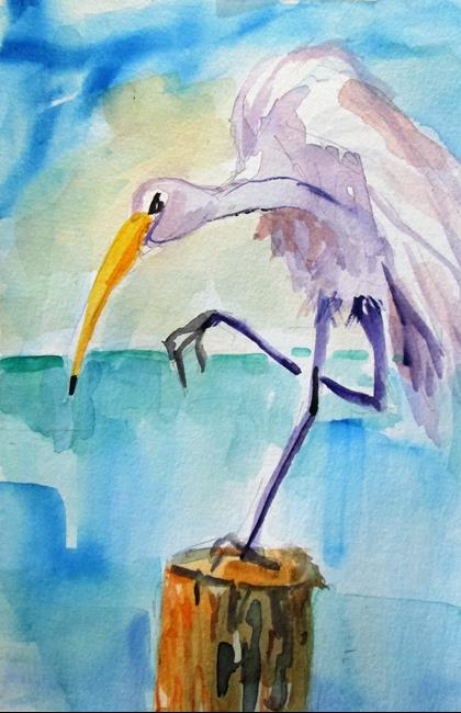 Art: Egret No. 2 by Artist Delilah Smith