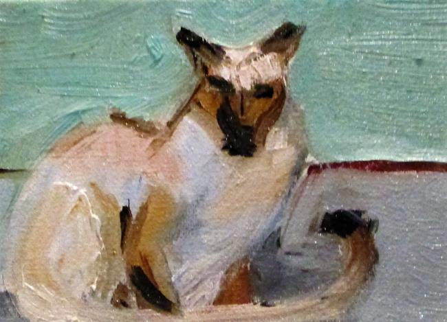 Art: Siamese Cat Aceo by Artist Delilah Smith