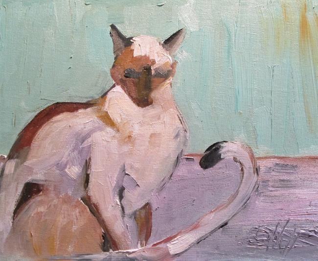 Art: Siamese Cat by Artist Delilah Smith