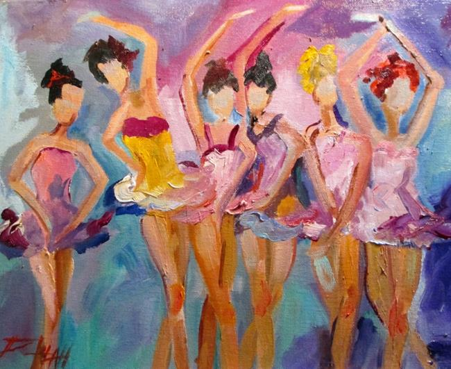 Art: Abstract Ballerinas by Artist Delilah Smith