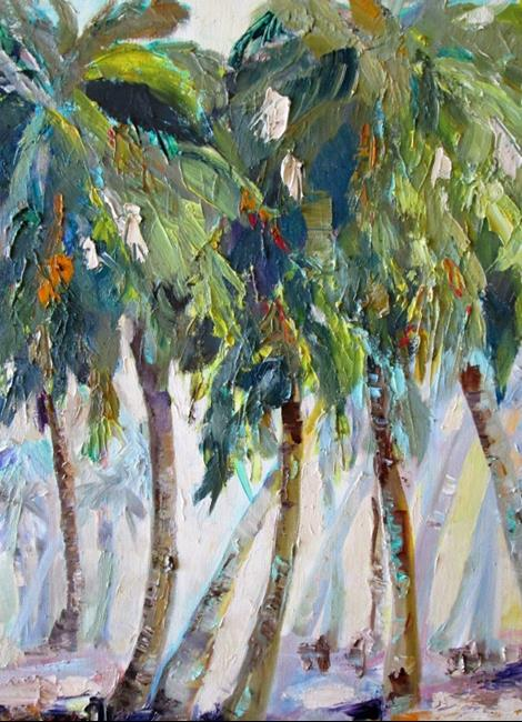Art: Palm Trees with Color by Artist Delilah Smith