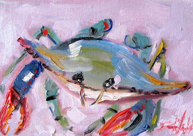 Art: Blue Crab No 12 by Artist Delilah Smith