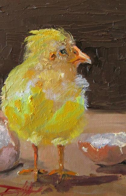 Art: Just Hatched Chick by Artist Delilah Smith