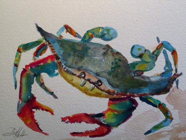 Art: Blue Crab No. 13 by Artist Delilah Smith