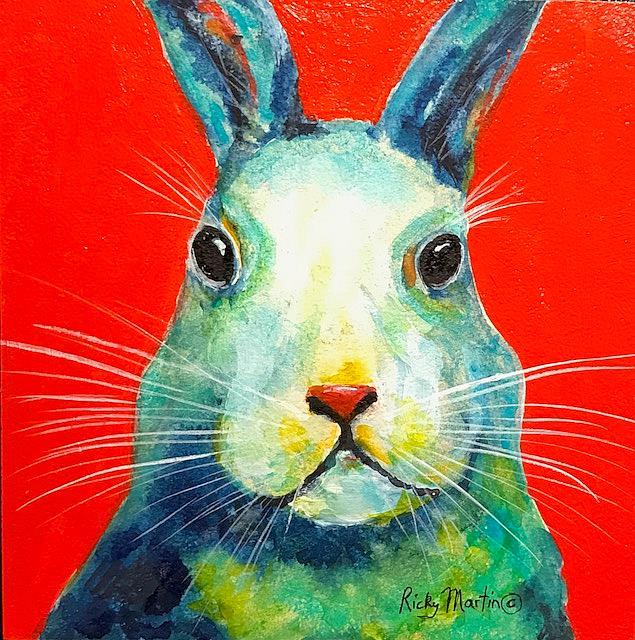 Art: Bunny Rabbit by Artist Ulrike 'Ricky' Martin