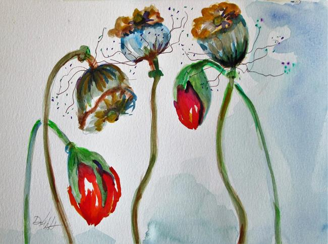 Art: Poppies No.10 by Artist Delilah Smith