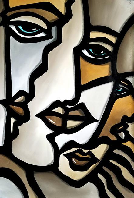 Art: Cubist 143 2638 F Original Cubist Art Still Alive 1 by Artist Thomas C. Fedro